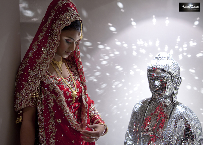 bridal portrait indian bride  � www.andrew-davies.com