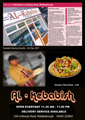 Local Kebab shop needed flyer designing