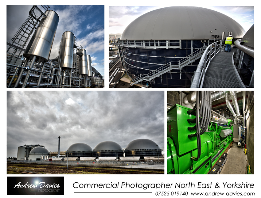 industrial commercial photographer north east biogas plant
