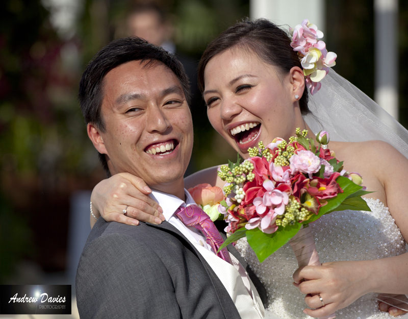 Candid Wedding Photography bride and groom laughter � www.andrew-davies.com