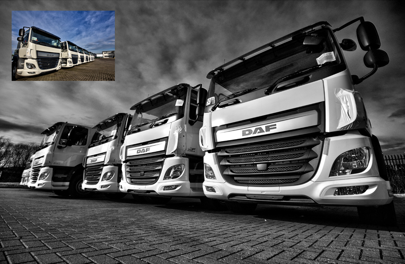 commercial photographer teesside new DAF Truck fleet