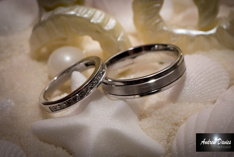 wedding ring detail photograph
