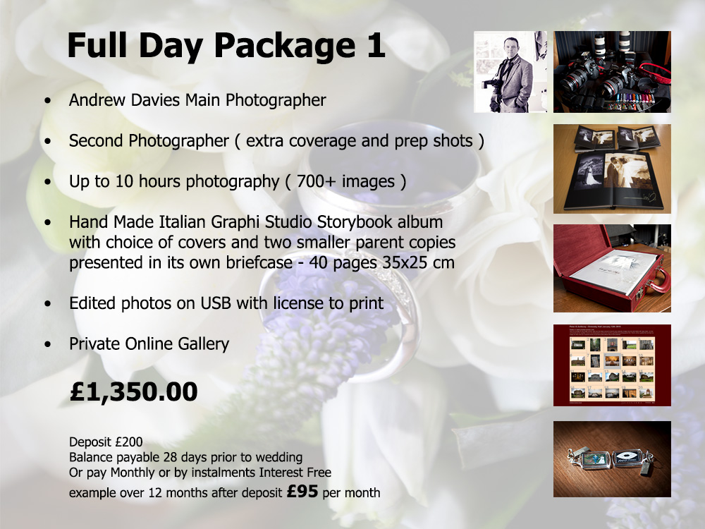 North East And Yorkshire Wedding Photography Prices And Packages