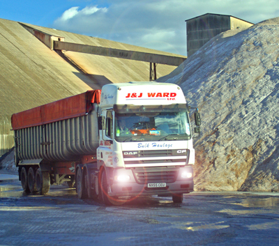 local haulage company advertising shot