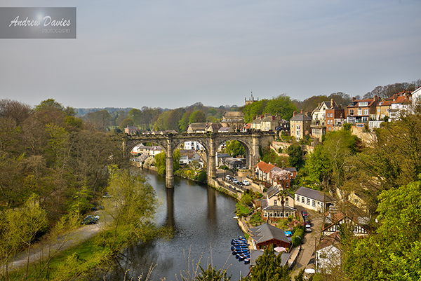 knaresborough viaduct river town print