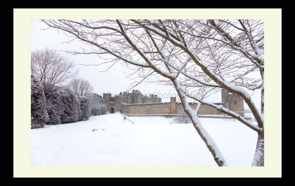 Alnwick Castle North East Northumberland Landscape print photo