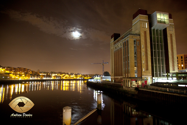 Baltic gateshead night shot print photo