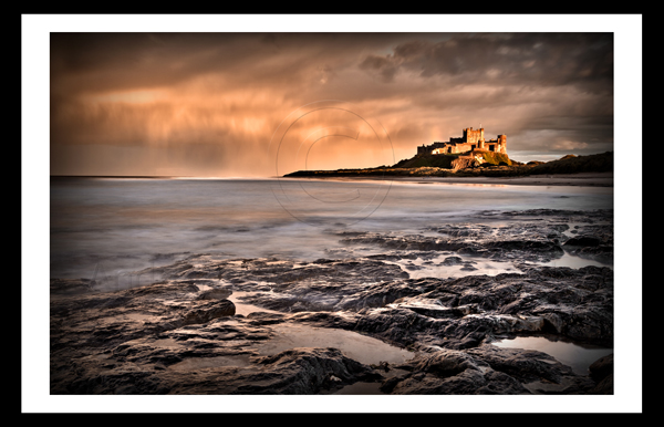 bamburgh castle northumberland north east landscape print photo