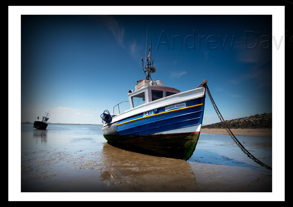 Redcar photo print South Gare boat