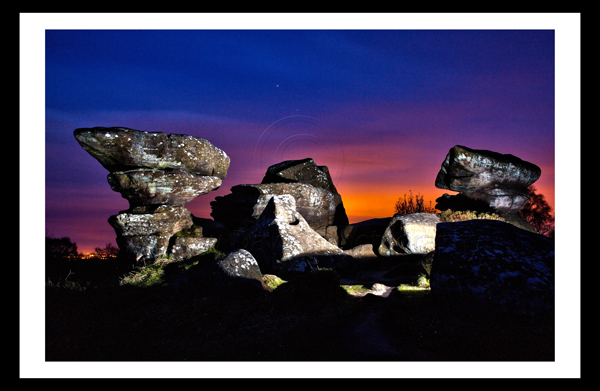 Brimham Rocks Ripon Yorkshire Landscape Print Photo
