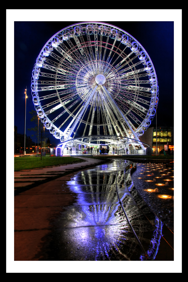 middlesbrough at night photo print © andrew davies
