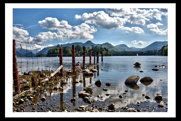 lake district photo print derwent water