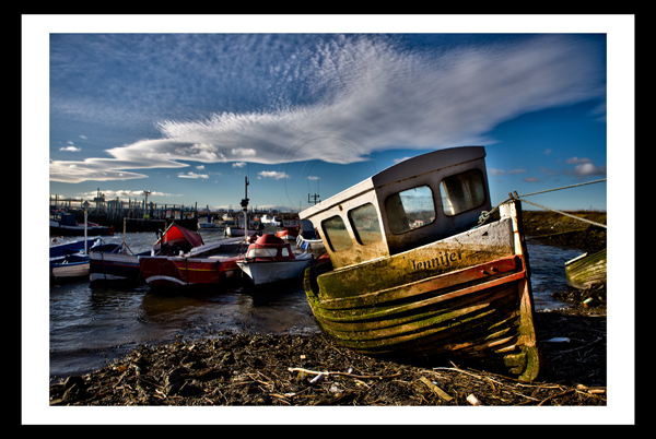 Redcar photo print paddys hole south gare boats