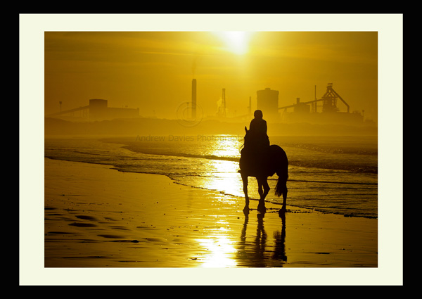 Redcar photo print Redcar Beach and Steel Works