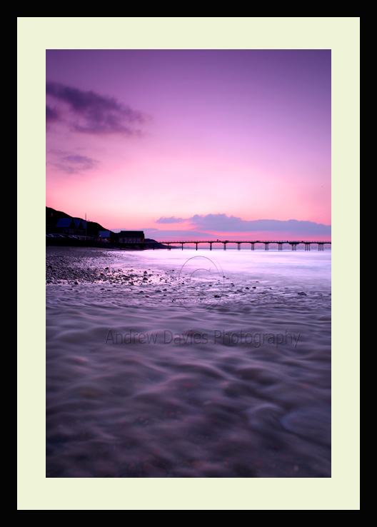 Saltburn by the sea sunset photo print