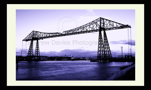 transporter bridge middlesbrough photo print