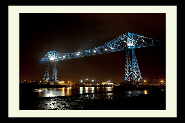 middlesbrough transporter bridge at night photo