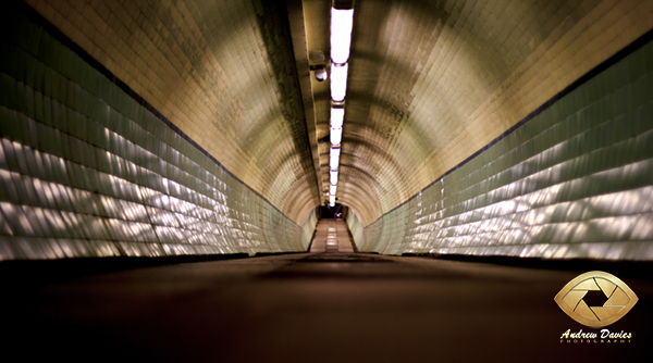 Tyne pedestrian tunnel gateshead newcastle photo print 2010