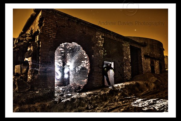 Urban Art Light Painting Night Scene