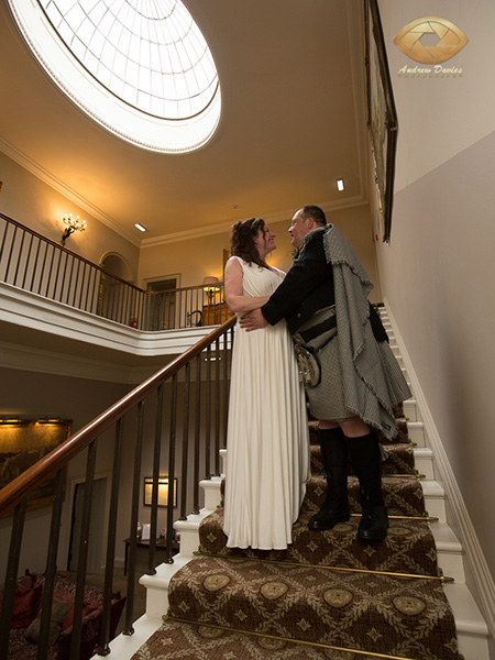 Linden hall wedding photographer stairs photo