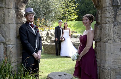 york museum gardens wedding photo