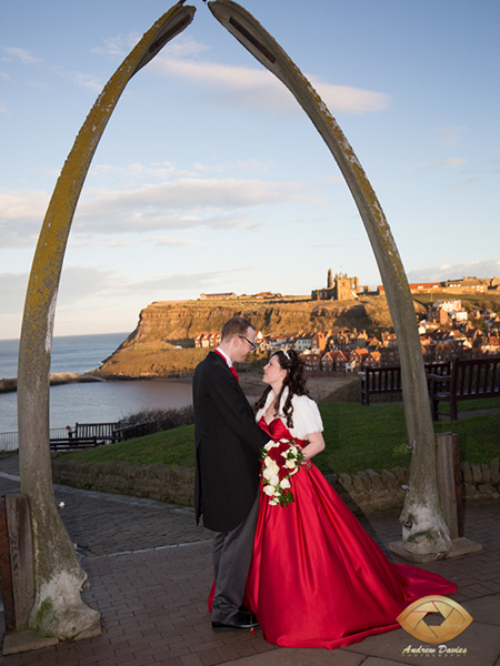 whitby wedding photographer whale bones