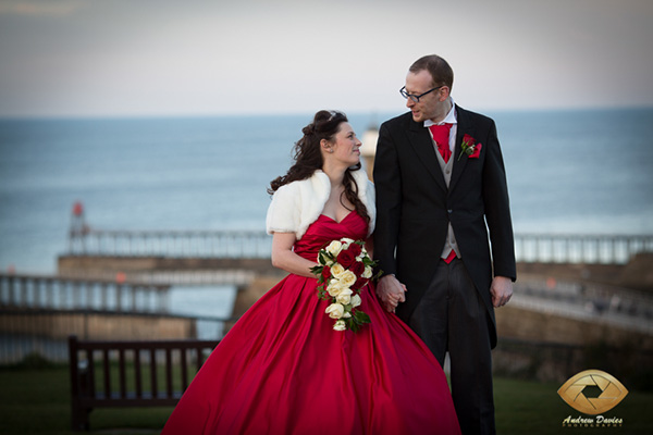 whitby wedding photographer pier
