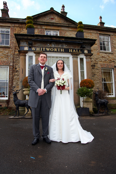 wedding photo whitworth hall durham spennymoor