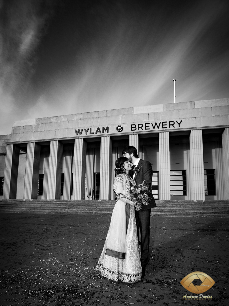 Wylam Brewery newcaslte wedding photo photographer artistic black and white